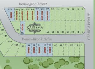 Karisma Homes Siteplan