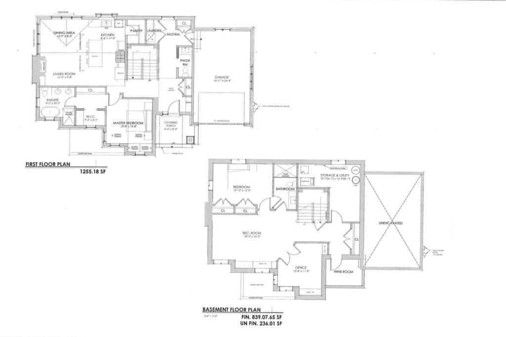 Unit 1 Bungalow  Floorplan