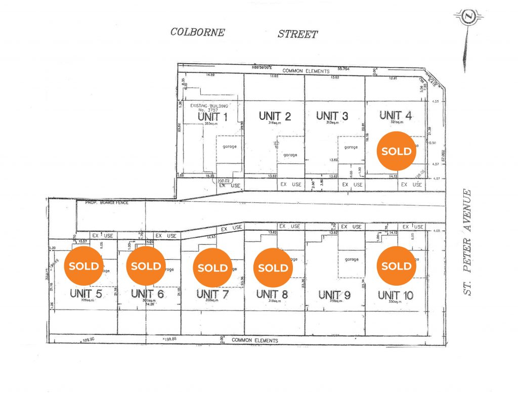 St. Peter Townhomes Siteplan